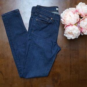 J Brand, MId-Rise Skinny Leg Jeans, Pure, 27